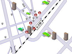 レンタカーの地図です。